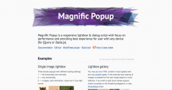 Magnific Popup- Responsive jQuery Lightbox Plugin
